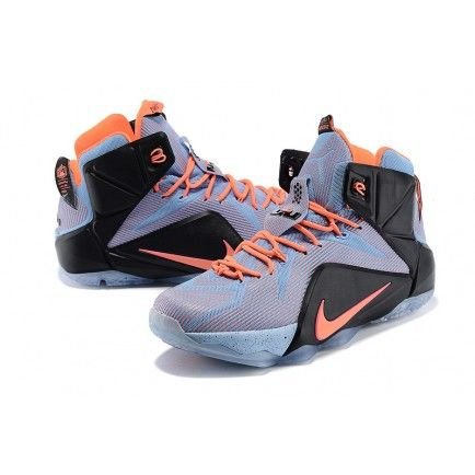 c3e490aeed9cd9 Nike LeBron 12 GS Office Easter Orange Blue Black