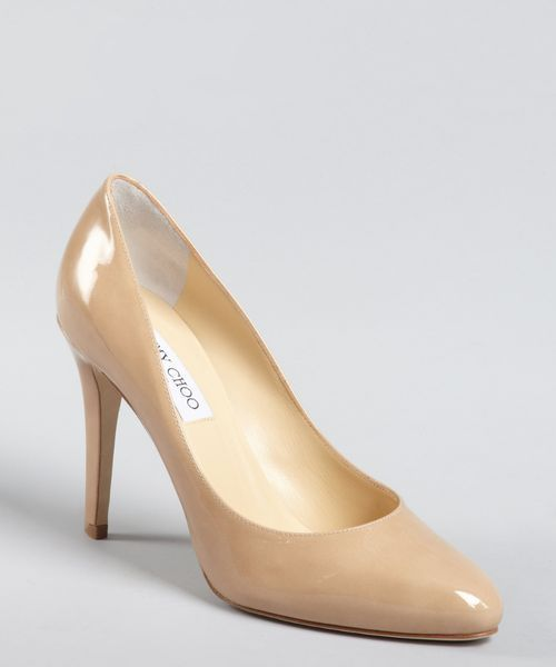 71b46b019620 Replica Jimmy Choo nude patent leather point toe pumps 5-1721  167 ...