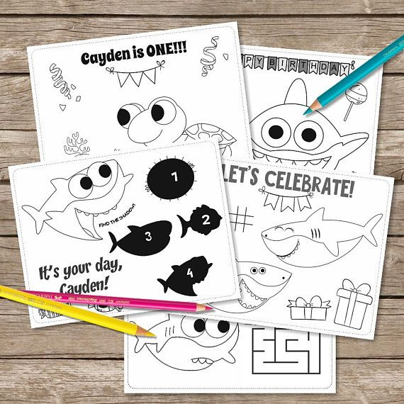 Baby Shark Song 6 Coloring Pages Super Simple Coloring Printable Baby Shark Birthday