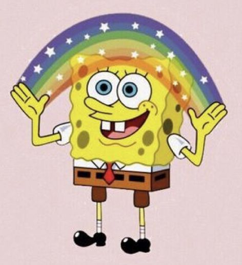 'spongebob rainbow' Sticker by etashastickers