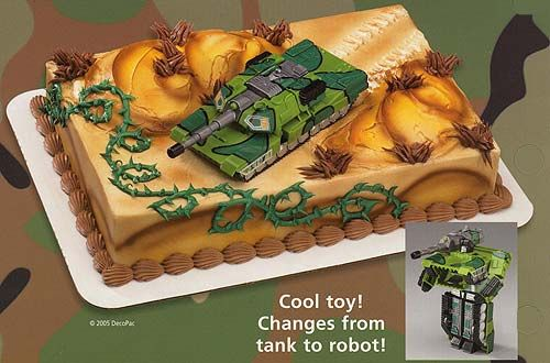 Simple, I like the idea of a toy tank.