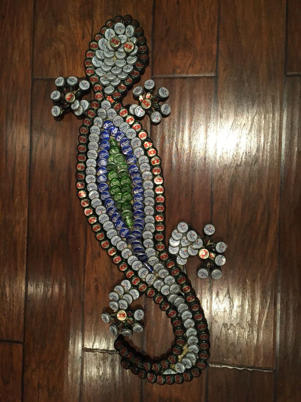 Bottlecap Lizard This Is My First Bottlecap Creation I