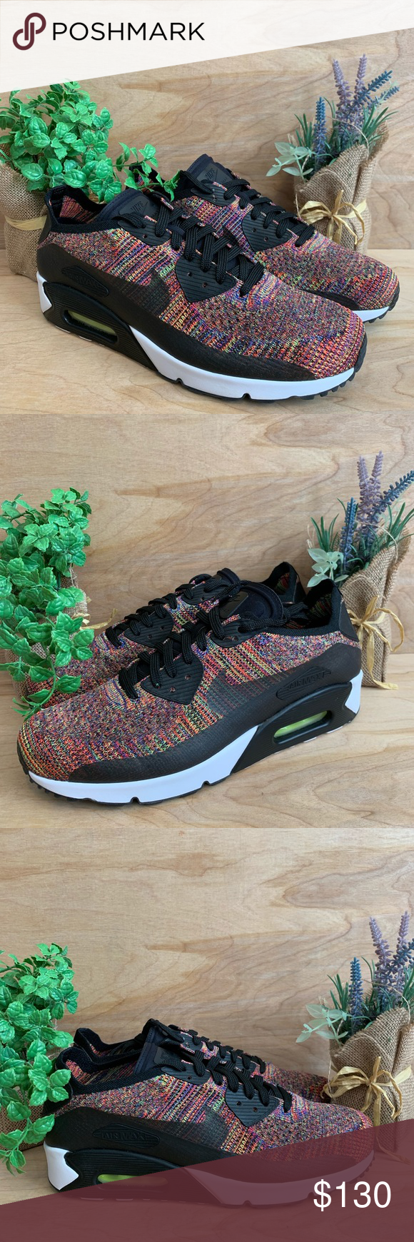 648636d6a2b6 Nike Air Max 90 Ultra 2.0 Flyknit Black Multicolor Size 10 NEW (NEVER WORN) Nike  Air Max 90 Ultra 2.0 Flyknit Black Multicolor Mens Does include the ...