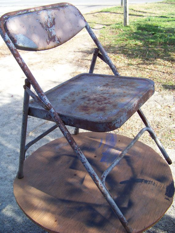 Vintage Childs Metal Folding Chair Mid By Alloftheabove On Etsy