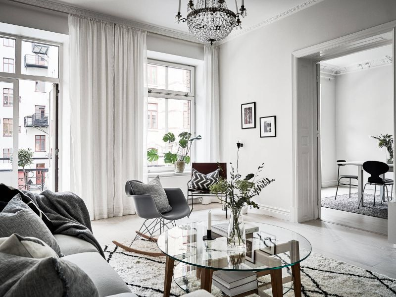 Wonderful Scandinavian apartment with original features Lounge