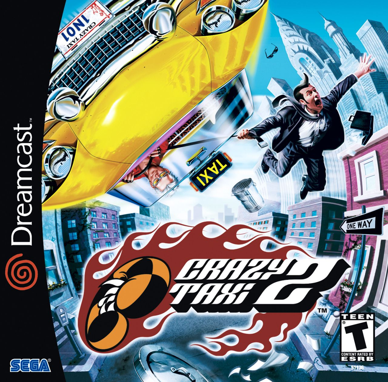 Cover Artwork Of Crazy Taxi 2 For The Sega Dreamcast I Liked The