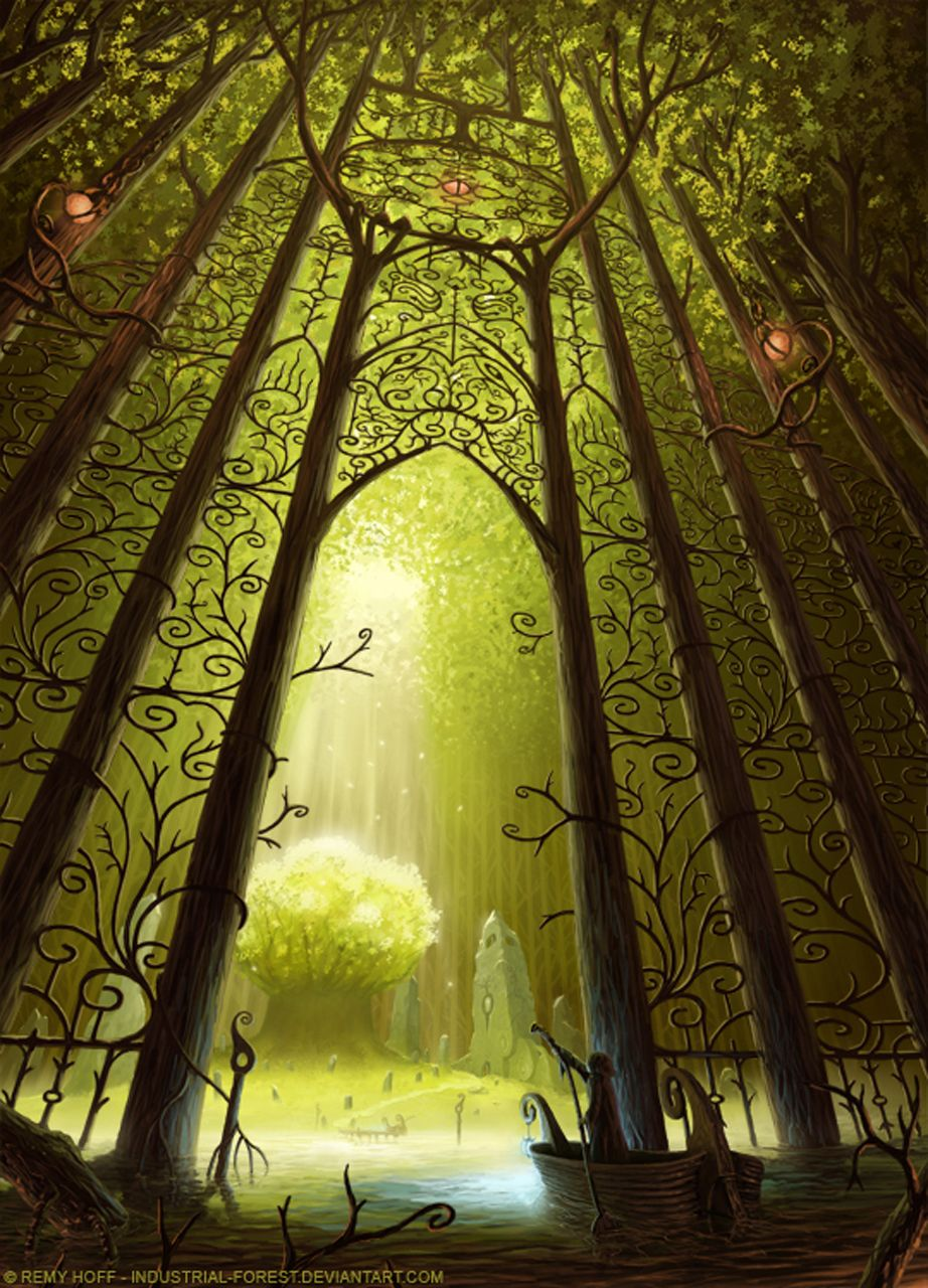 Entrance To The Sacred Tree By Artist *Industrial-Forest...