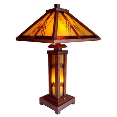 Chloe Lighting Tiffany Style Mission Table Lamp Table Lamp Lamp Craftsman Lamps