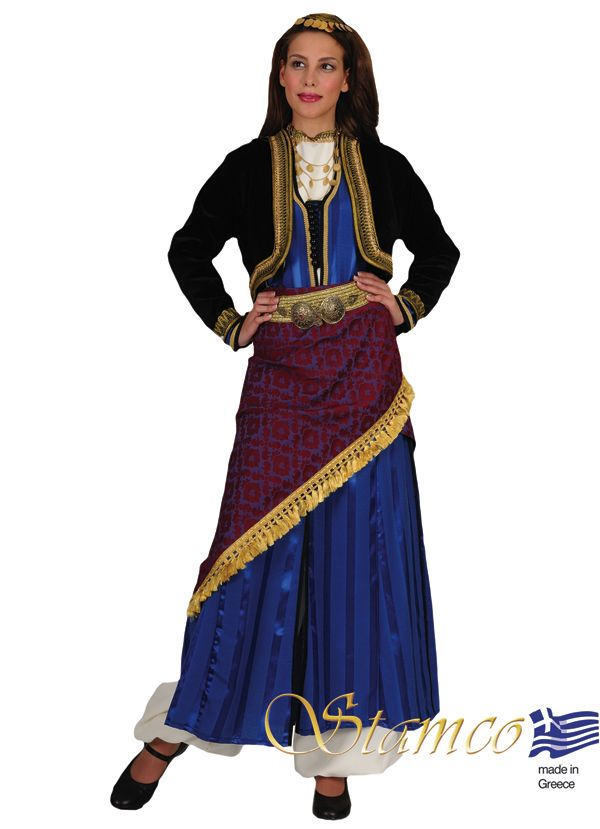 db6b6b641 Pontos woman on blue costume - 641233 | Hellenic Traditional ...