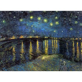 Trademark Fine Art The Starry Night by Vincent Van Gogh on Canvas