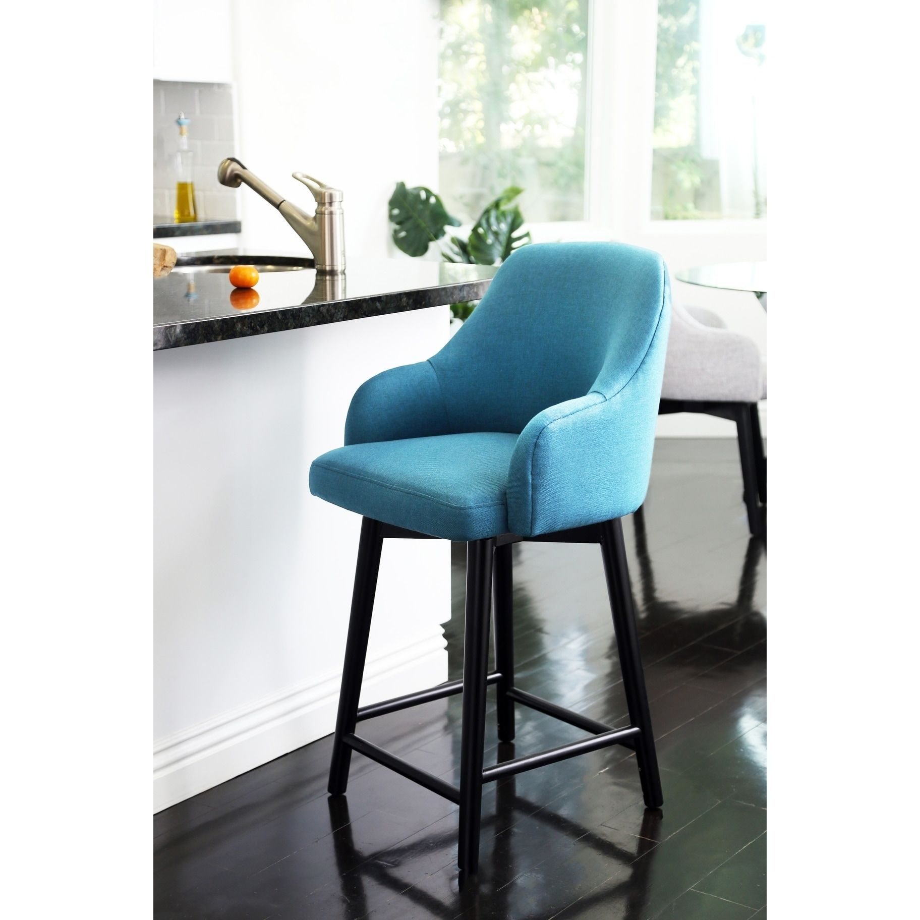 Astonishing Abbyson Abbott Upholstered 26 Inch Counter Stool Teal Blue Ocoug Best Dining Table And Chair Ideas Images Ocougorg