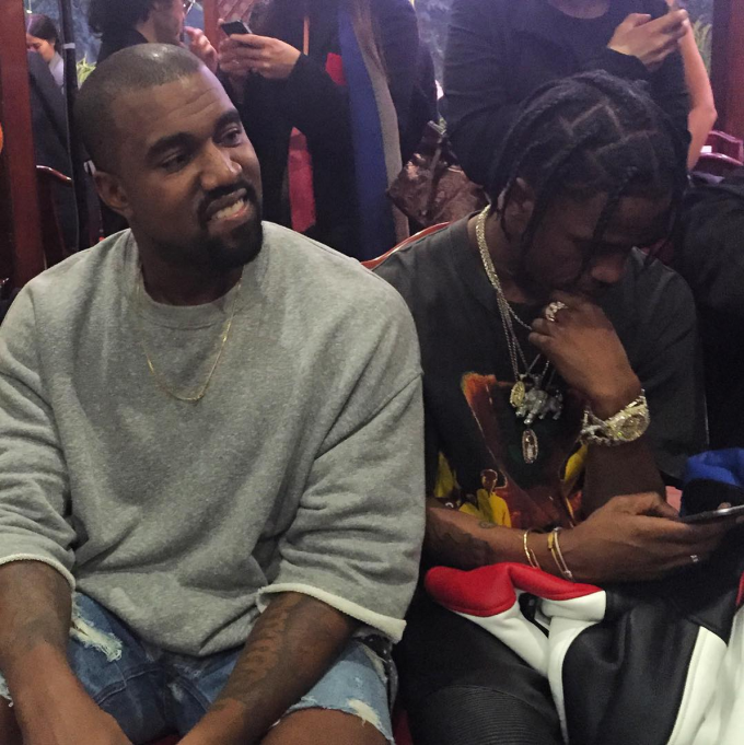 441a293d89dab3 Kanye West and Travis Scott Sat Front Row at Vetements Spring Summer 2016