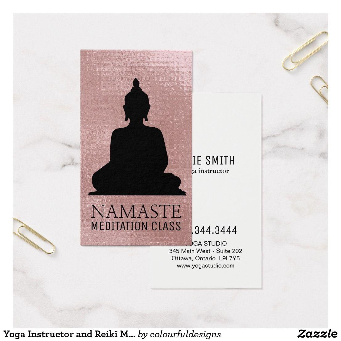 Yoga Instructor and Reiki Master Business Cards | Yoga