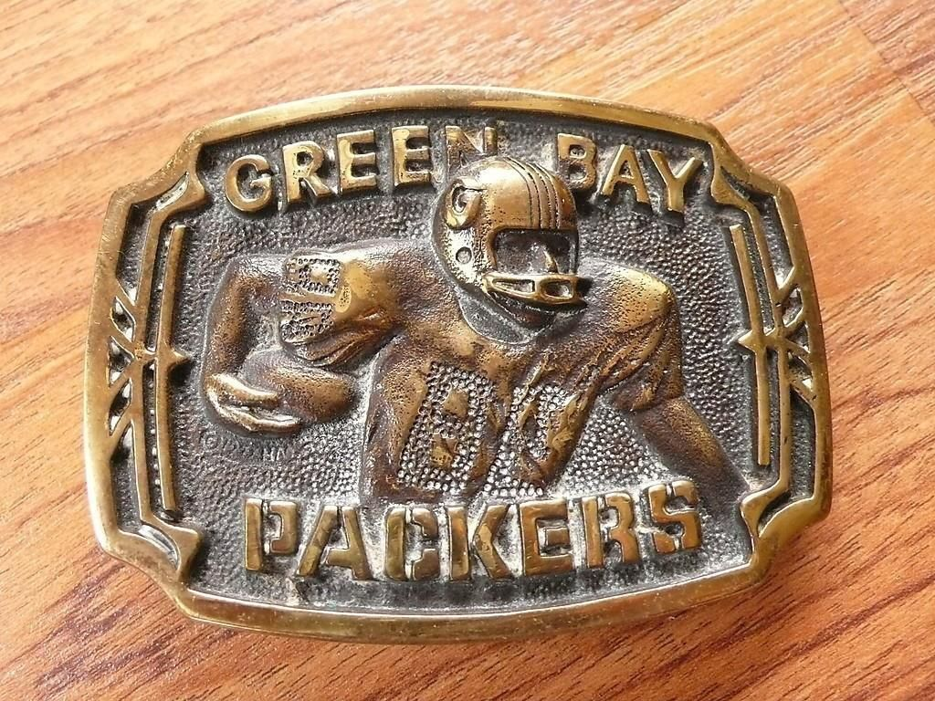 Vintage 1977 Green Bay Packers Brass St. Francis Hertiage Mint LTD Belt Buckle http://clektr.com/AZP
