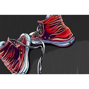 chuck sneakers poster art $55.00