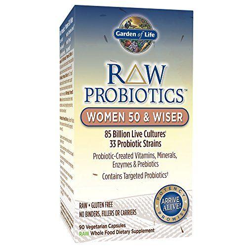 Garden Of Life Gol11568 Raw Probiotics Women 50 Wiser 90 Vegetarian Capsules Shipped Cold Click Image To Review More De Probiotics Health Calendula Benefits