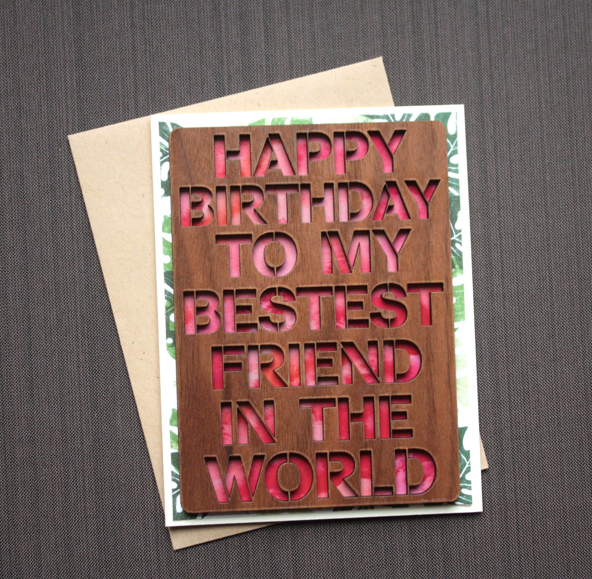 Best Friend Birthday Card Watercolor Birthday Card