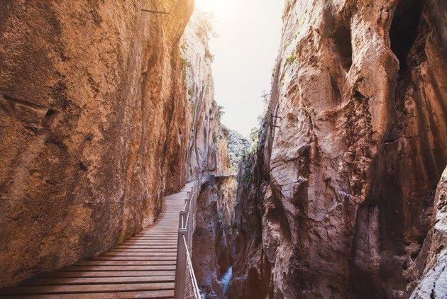 The most deadly trail in the world El Caminito del Rey in Malaga
