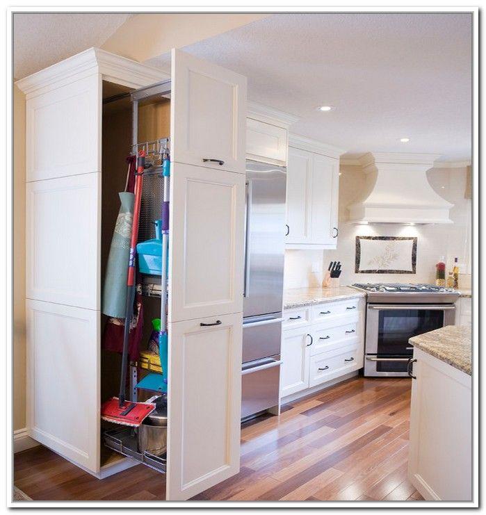 Broom Closet Cabinet Plans: Kitchen Cabinets, Kitchen, Kitchen