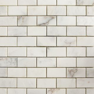 Versailles White Small Brick Pattern Honed Natural Stone Mosaic -  Contemporary - Tile - Chicago -