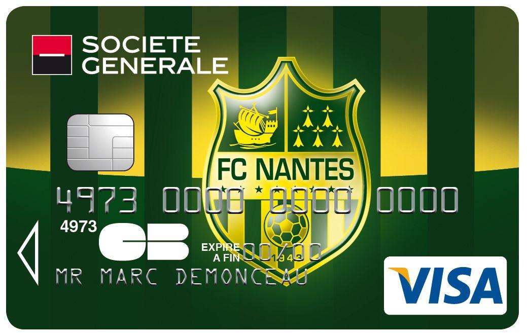 Carte Visa Societegenerale Football Club De Nantes Fcna