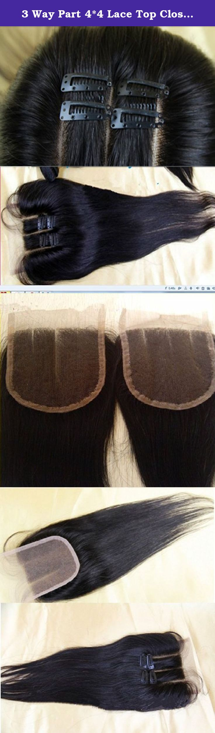 """3 Way Part 4*4 Lace Top Closure 12"""" Indian Virgin Remy Hair Straight natural colour Can Be Dyed trademark:hairpr. Lace Top Closure .Straight. Closure Size: 4""""*4"""" 12"""" Color:natural colour.A+++++ hair .This hair Can be ironed,Can be restyle. Quantity:1 piece 100% human hair No synthetic fibers or animal mixtures. Grade A+++ ++VIRGIN hair and multiple layers handsewn work give you plenty of styling options by curling Expedited fast International Standard delivery 7-14days Fast delivery…"""