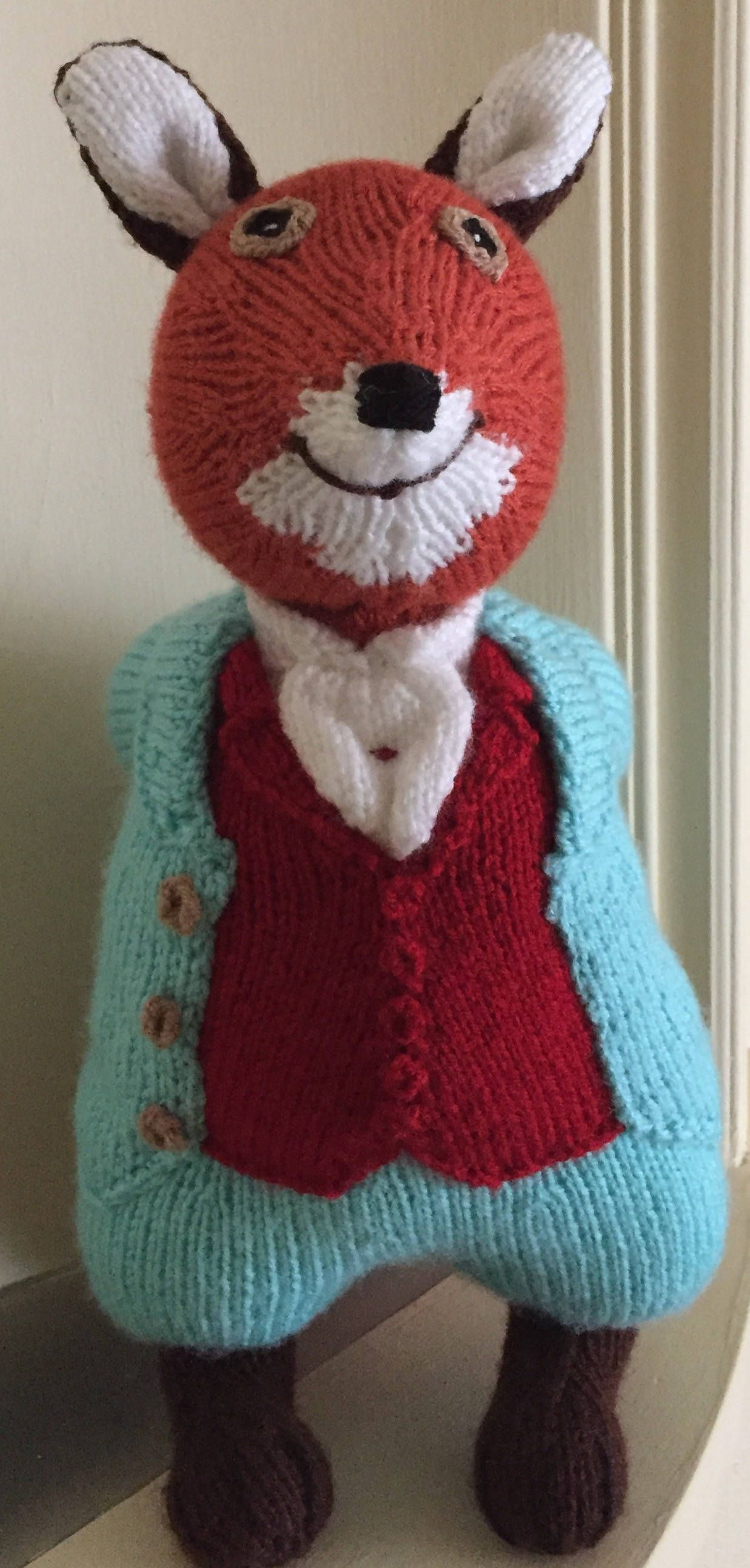 Hand Knitted Mr. Tod Soft Toy, based on the Beatrix Potter Fox ...