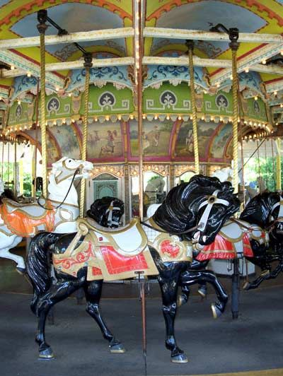 Valleyfair's carousel comes from  the now defunct Excelsior Park where it ran from 1924 until that park closed  sometime in the early 1970...