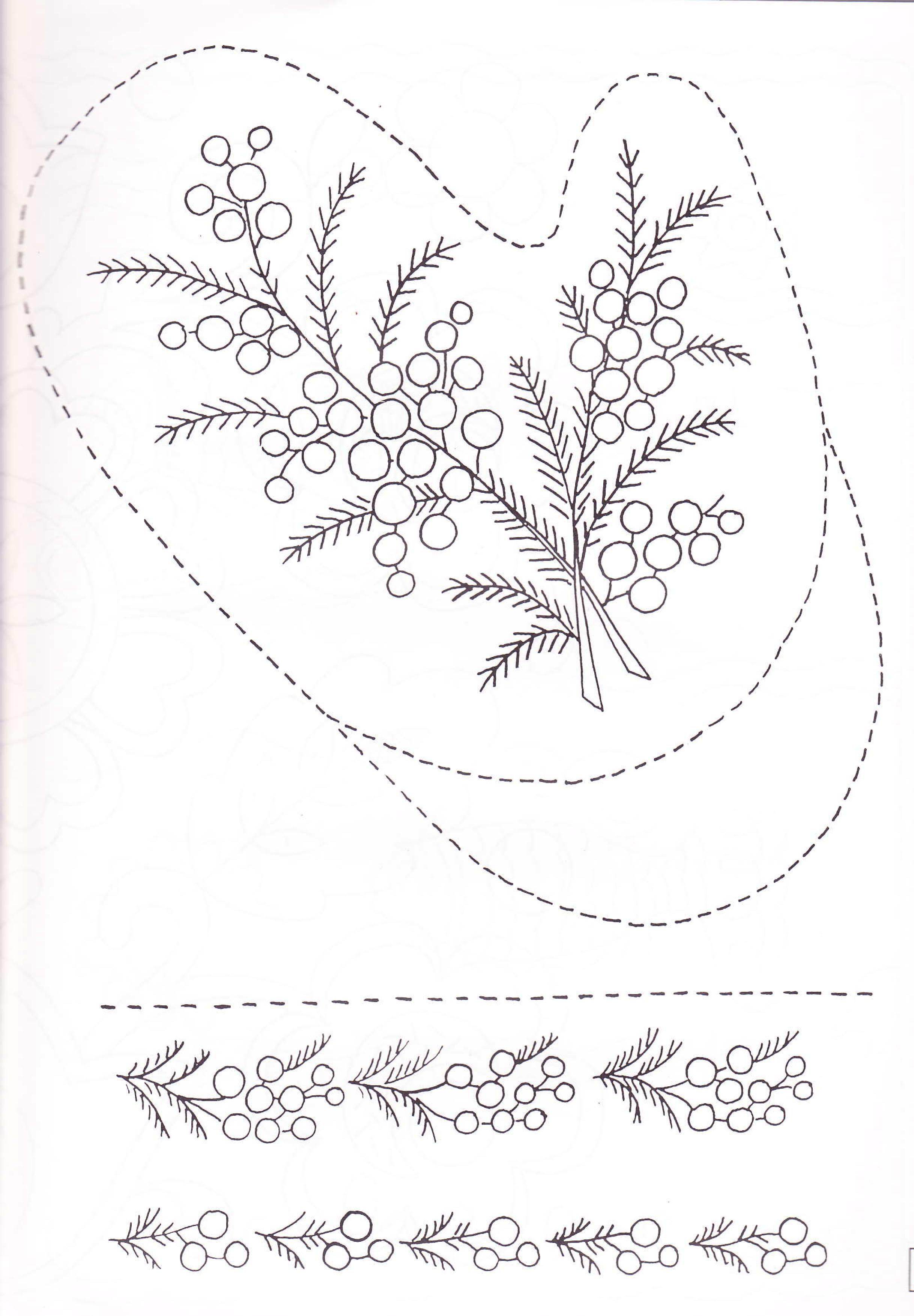 Pin de Marina Chernikova en мимоза | Pinterest | Bordado, Diseños de ...