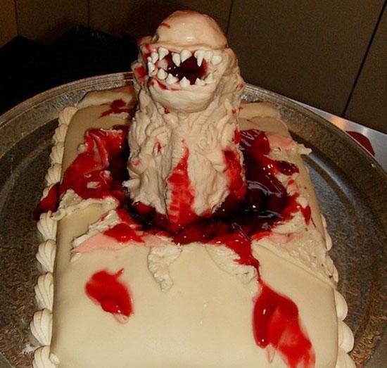 5 disgusting chestburster birthday cakes   Blastr