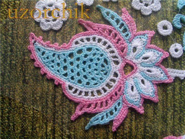 Pin By Alisa On Paisley Pinterest Crochet Flowers Irish Lace