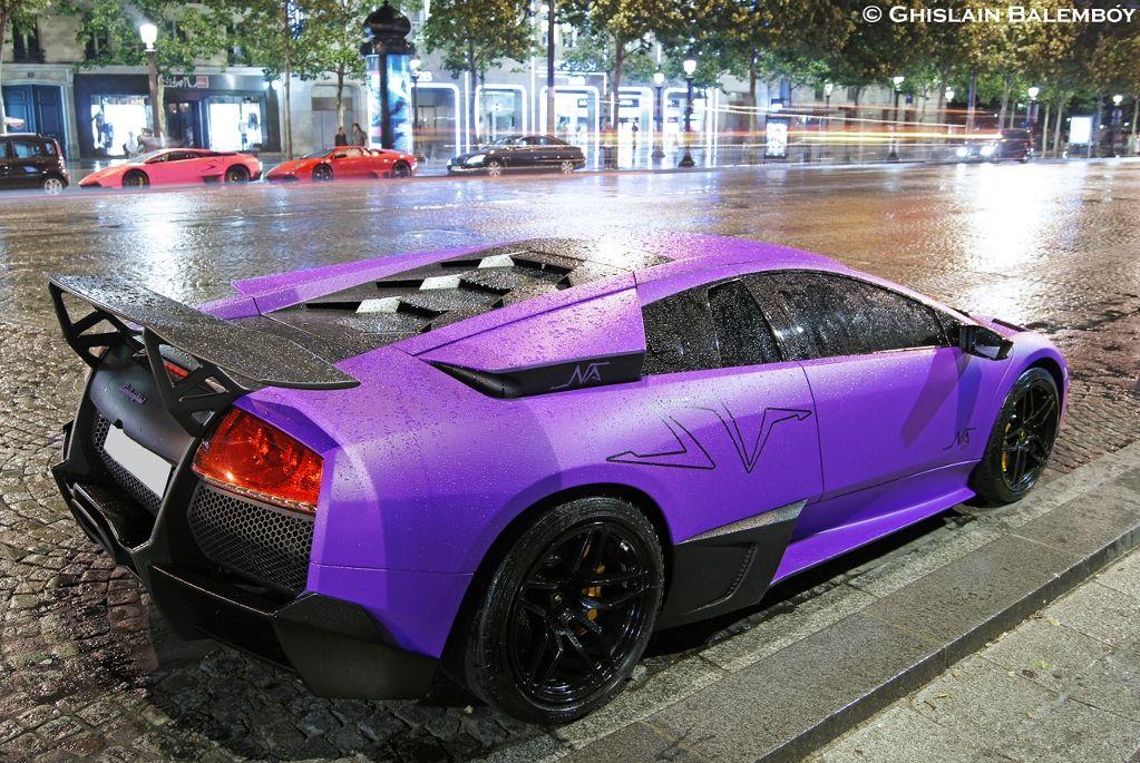 Murcielago Sv The Art Of Purple Lamborghini Sweet Cars Cars