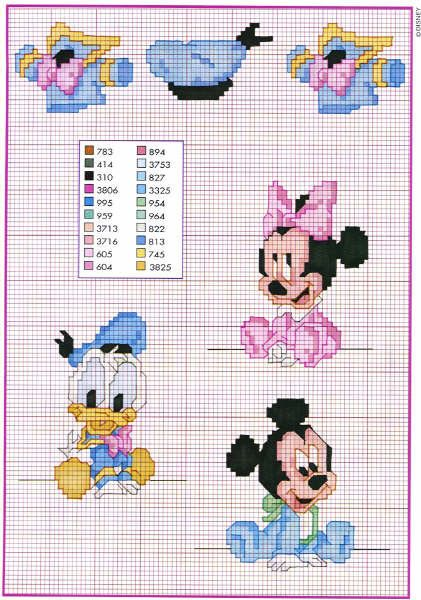 Baby Disney Topolino Minni Magiedifilo It Punto Croce Uncinetto