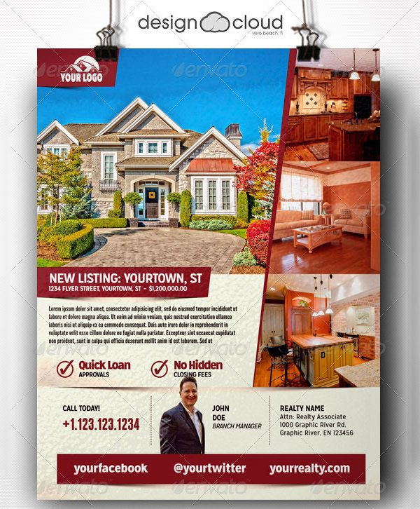 Real Estate Flyers Free PSD AI Vector EPS Format Download - Free real estate brochure templates