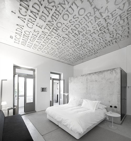 Plafond Chambre Bedroom All White Tout Blanc Tapisserie