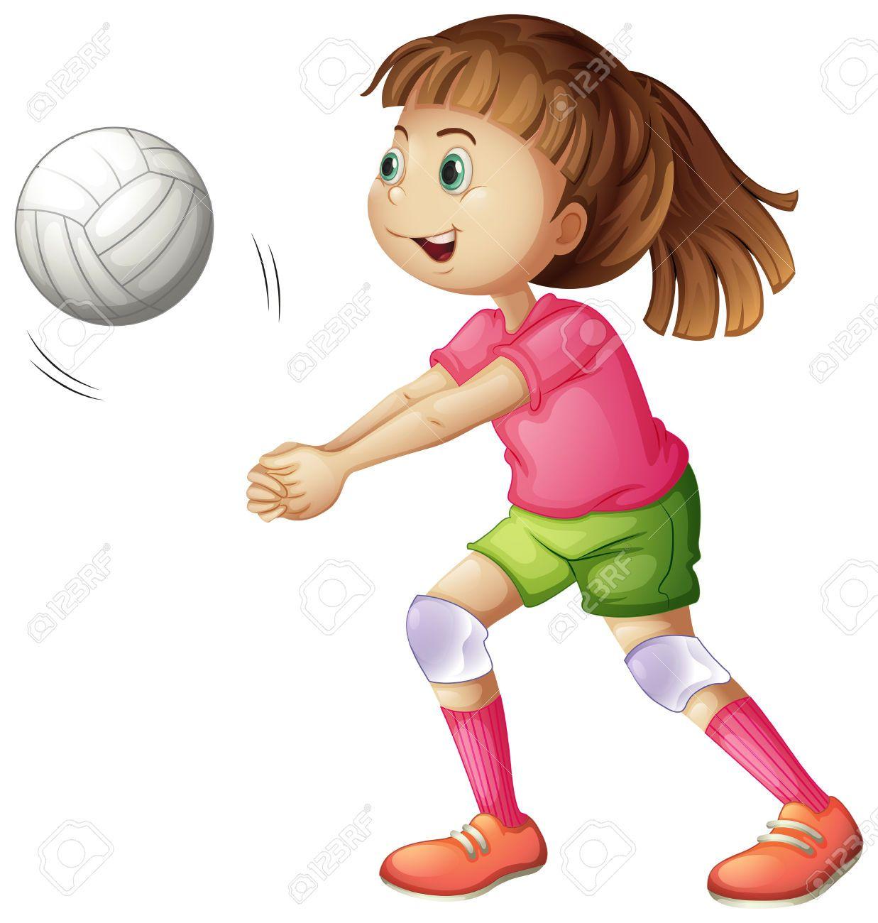 Ni as jugando voleibol animado buscar con google - Hacer bolis en casa ...