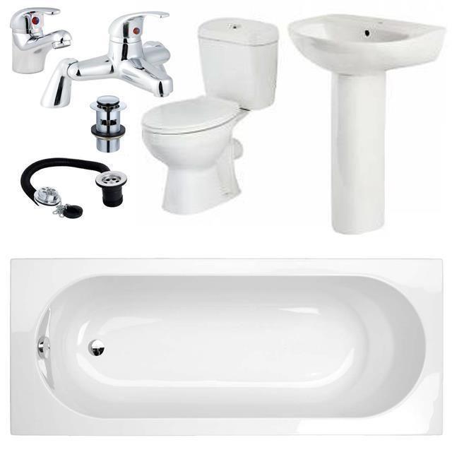 Cheap Complete Bathroom Suite Bath Toilet Sink Mixer Taps