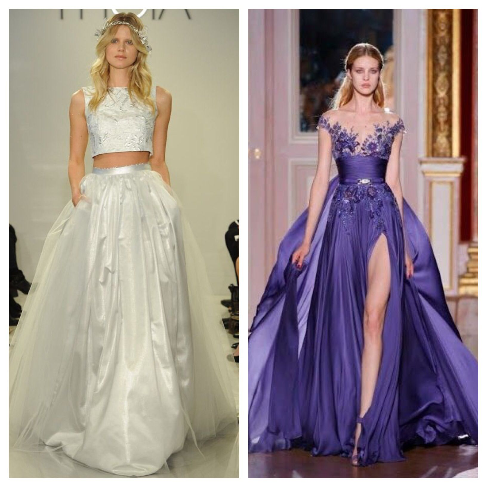 Nontraditional Wedding Dresses Cropped Wedding Dress Colored Wedding ...