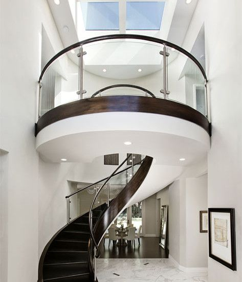 Staircase Decorating Ideas With Modern Design: Round Stairs Design, Pictures, Remodel, Decor And Ideas