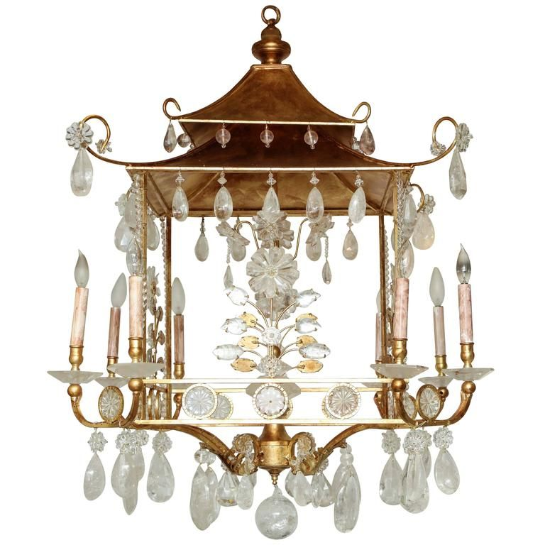 Gilded pagoda form rock crystal chandelier pendant lighting gilded pagoda form rock crystal chandelier aloadofball Image collections
