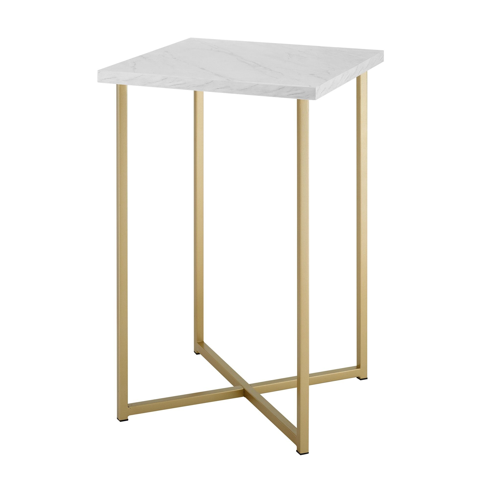 Homeroots Julia Agate Gold Stone Round End Table 364651 White Accent Table Side Table White Side Tables