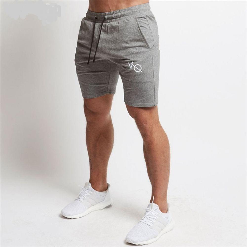 Summer Leisure Men Knee Length Shorts Cargo Pockets Joggers Short Sweatpants CA