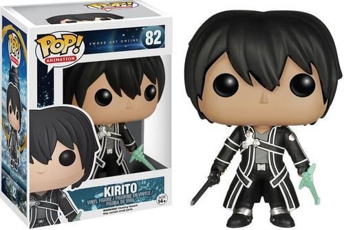 Funko Sword Art Online Pop Anime Kirito Vinyl Figure 82 Grey