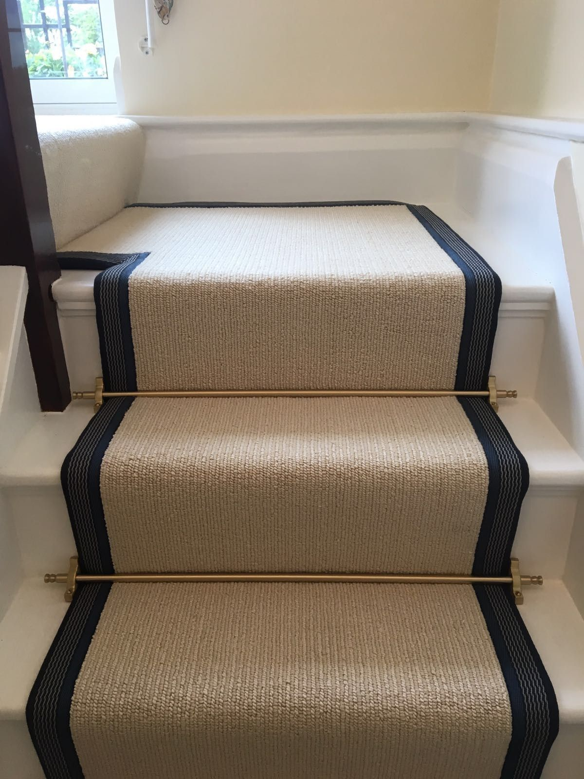 Best Riviera Henley Chiffon Striped Cream Carpet Fitted As 640 x 480