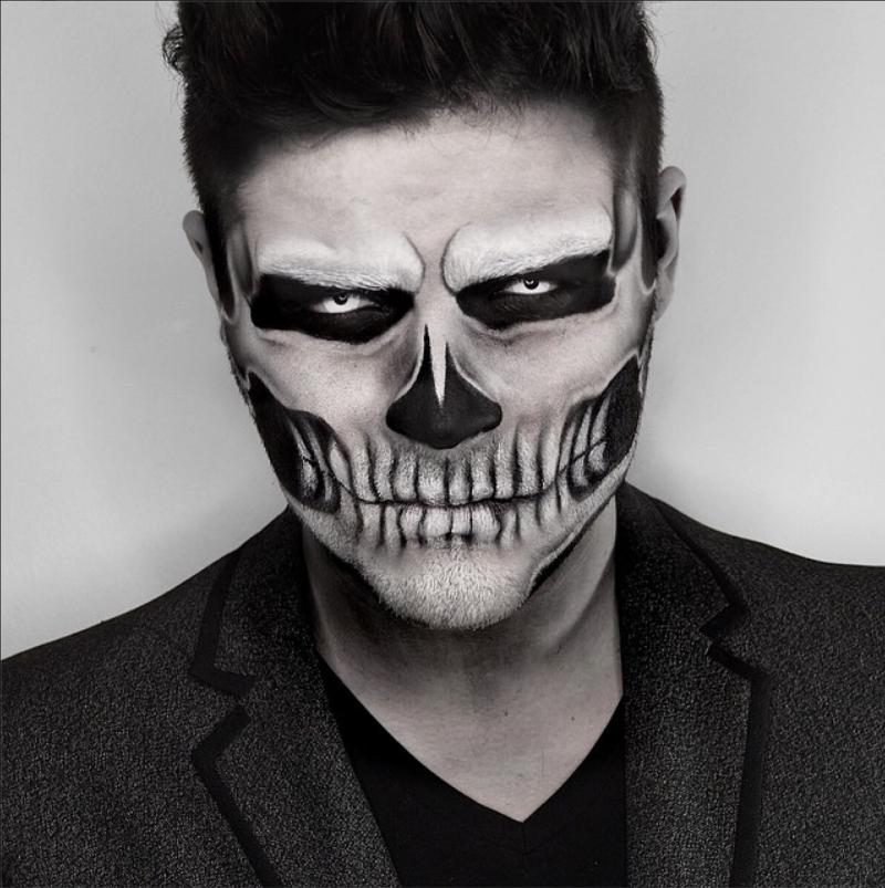 21 Halloween Makeup Ideas For Men Halloween Fasching Pinterest