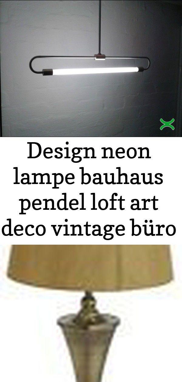 Design neon lampe bauhaus pendel loft art deco vintage büro industrie fabrik neu 1 #afrikanischerstil