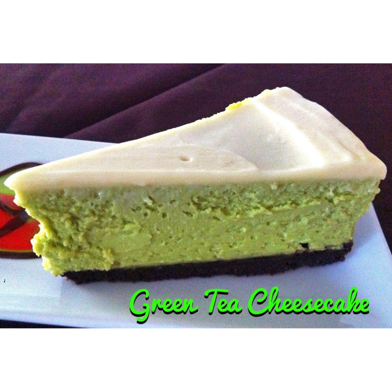 Green tea cheesecake cheesecake green tea cheesecake