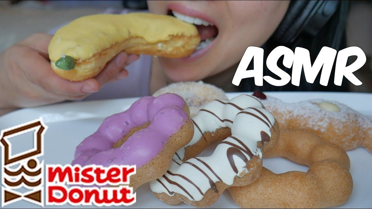 Asmr Mister Donut Eating Sounds No Talking Sas Asmr Mister Donuts Food Asmr Created 4 years ago 8,770,000 2,138,856,114 1,191 canadian. asmr mister donut eating sounds no