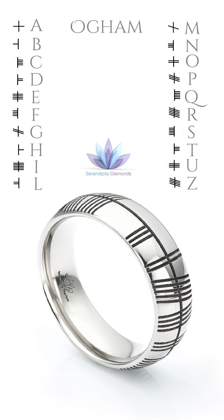 Commission your very own Ogham wedding rings This distinctive