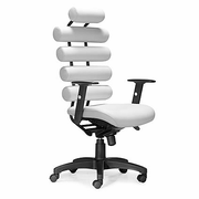Zuo Modern Unico Office Chair White, Faux Leather & Black